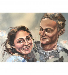 Portrait comission for a brother and sister