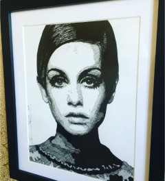 Twiggy Original Ink Portrait