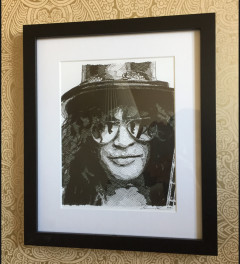 Slash Hand drawn Ink Portrait