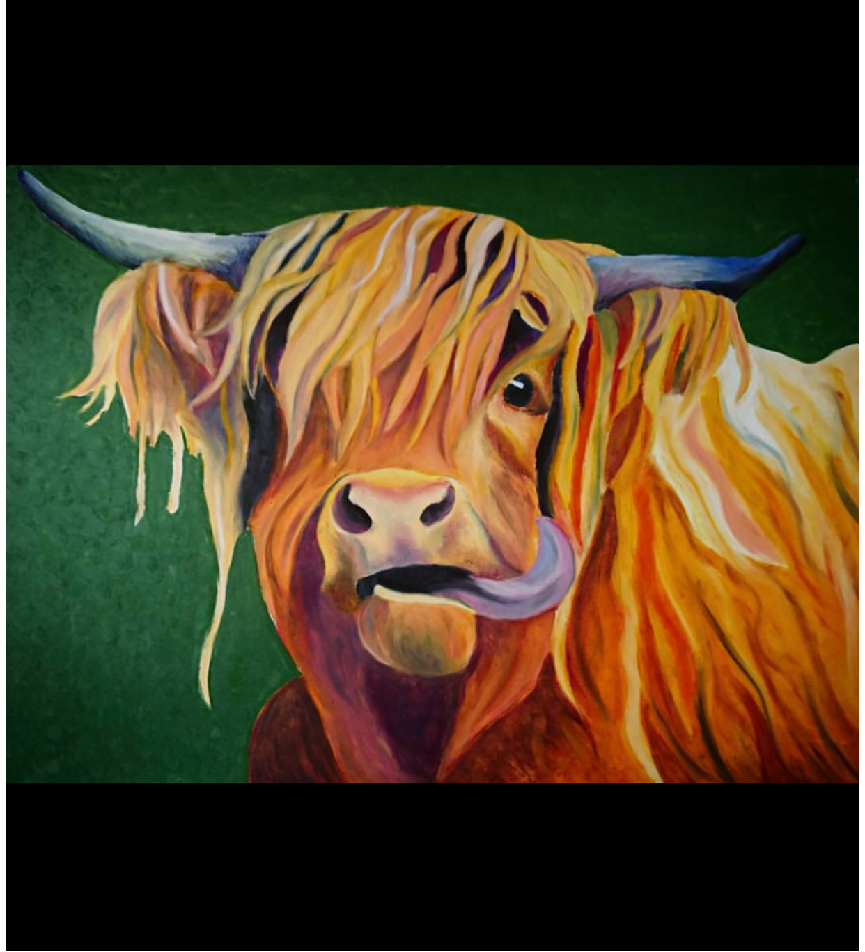 Oil Bar, Highland Cow