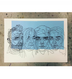 Bespoke family portrait screen print.