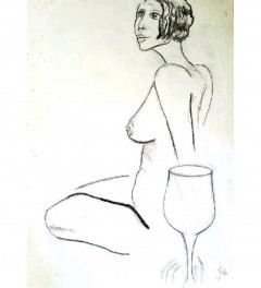 Nude with glass