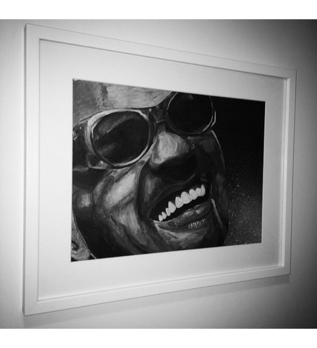 Ray Charles - Acrylic Painting (Original)