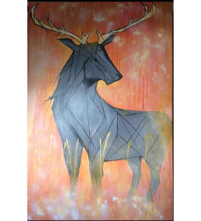 The highland grey stag