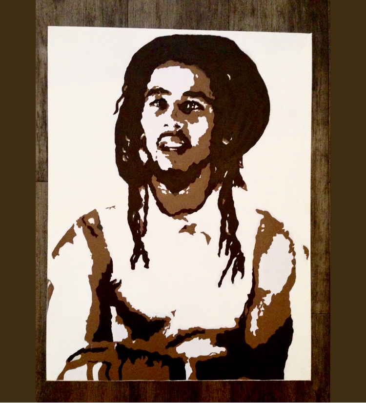 Bob Marley box canvas 40x60 CM