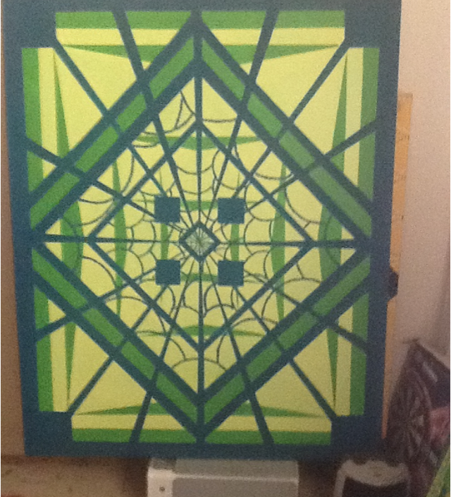 Geometric abstract in green