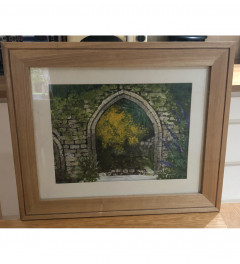 Original oil painting in wooden frame