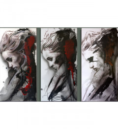 Scarlet Thoughts triptych set