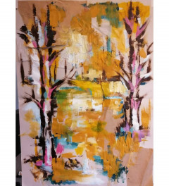 Abstract autumn trees