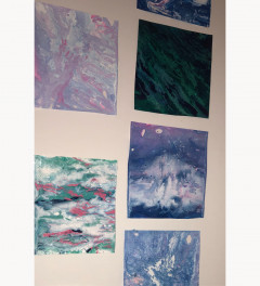 Distressed colour. Any of these acrylic pour work