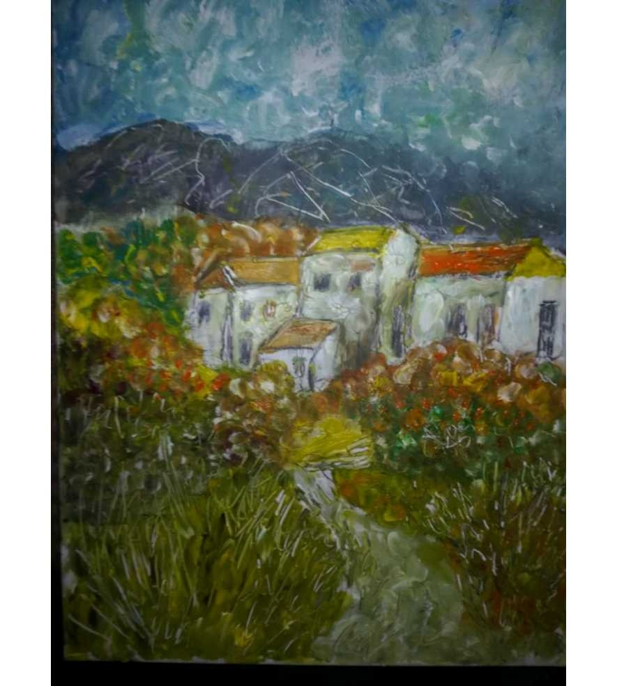 Tuscan houses and landscape