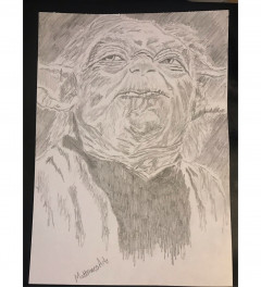 Yoda Empire Strikes Back pencil sketch