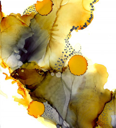 Honey Trap Alcohol Ink Print