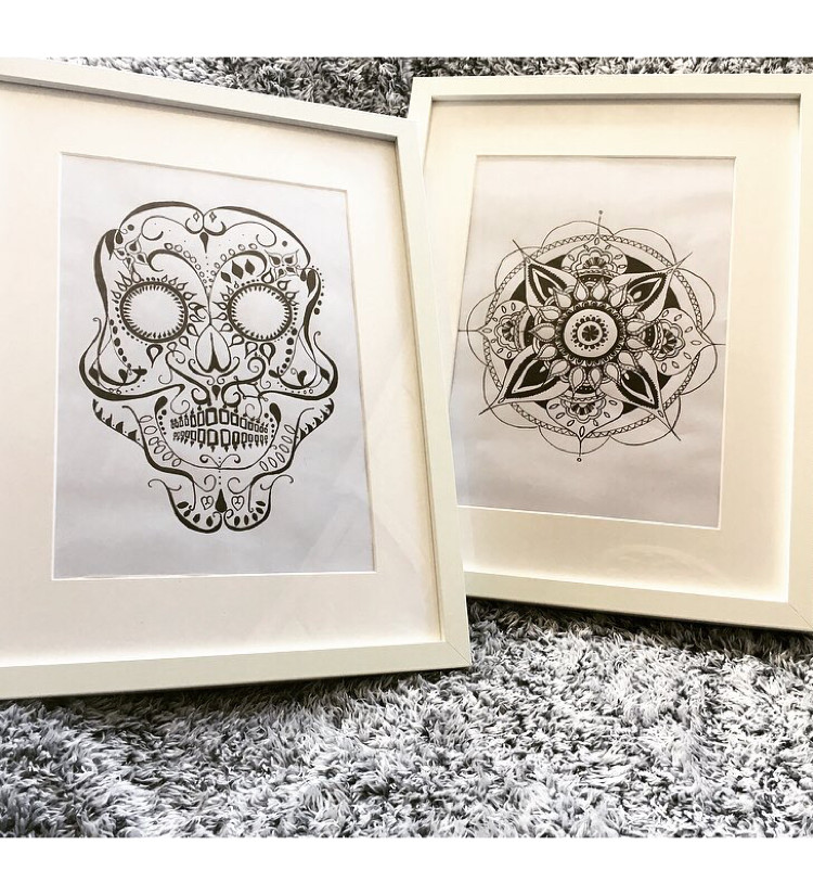 Hand drawn ink drawings