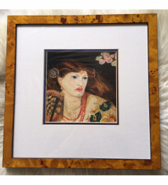 Copy Rossetti - Monna Vanna Watercolour - Framed