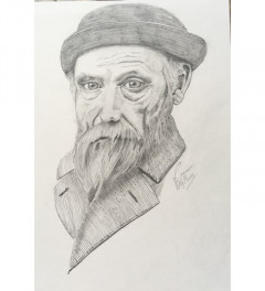 Renoir pencil drawing