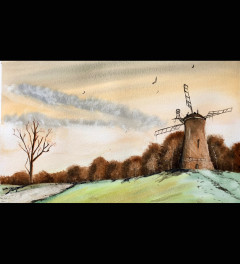 Windmill on the hill (Framed)