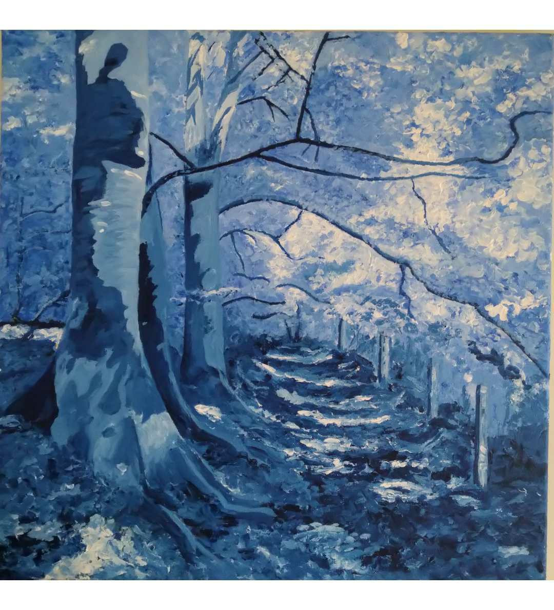 Blue Trees and Leaves (SOLD)