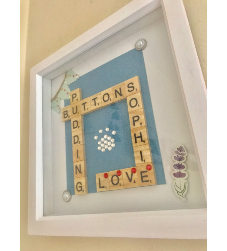 Personalised Scrabble Inspired Frame 12x12