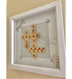 Personalised Scrabble Inspired Frame 8x8