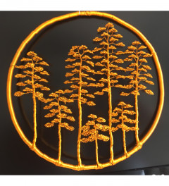 Wire tree lubos, wall forest orange