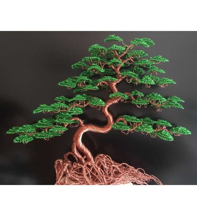 Wire tree lubos, green bonsai