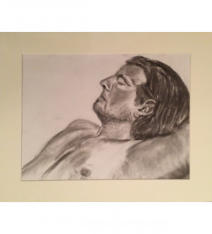 Male model drawn from life