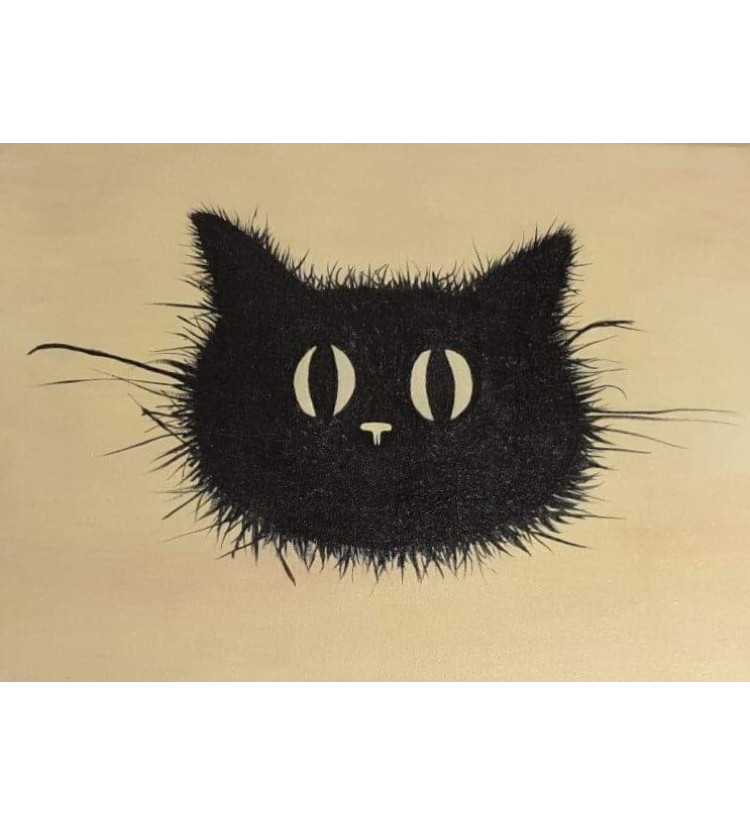 Scruffy Cat #1  **SOLD but prints available