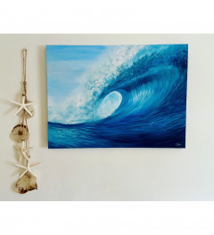 """Electric Wave"" original Surf Art by Emma Rawlins"