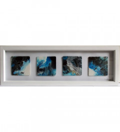 Abstract Acrylic in Four Pieces (Framed)