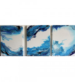 Triple Abstract Acrylic on canvas (12inches by 9inches)