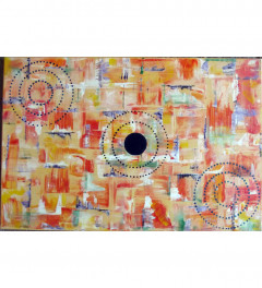 Abstract Acrylic on canvas (36 inches by 24 inches)