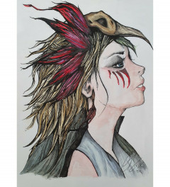 Red Feathers Part One A4 Print