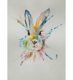 PSYCHEDELIC HARE - SOLD
