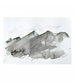 The Mountains, loose watercolour painting A4
