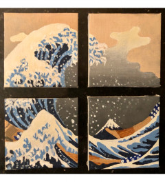 The Great Wave off Kanagawa - on small canvases