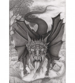 Mythical Fine Pencil drawing