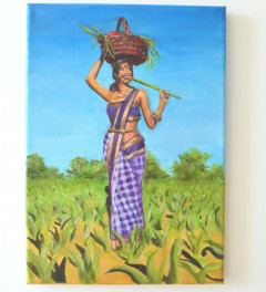 Indian Village Girl A4