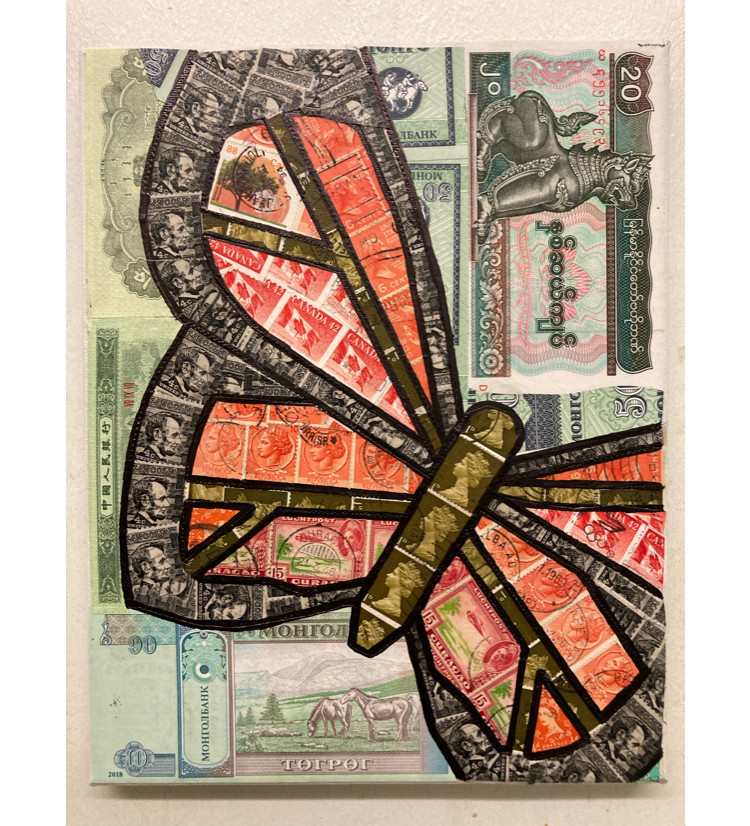 Butterfly Stamp & Money