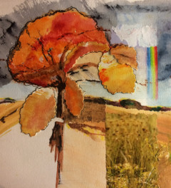Stormy Afternoon - Original Mixed Media Painting