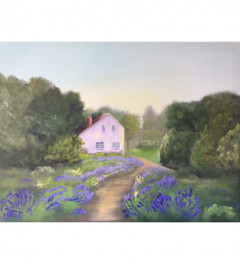 """""""Lavender path"""" original painting. Ready to hang"""