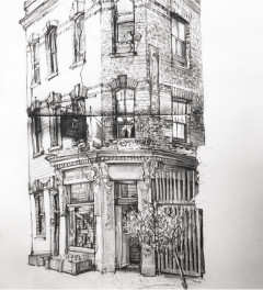 Herne Hill Bookshop with Sketchbook Spine Truth