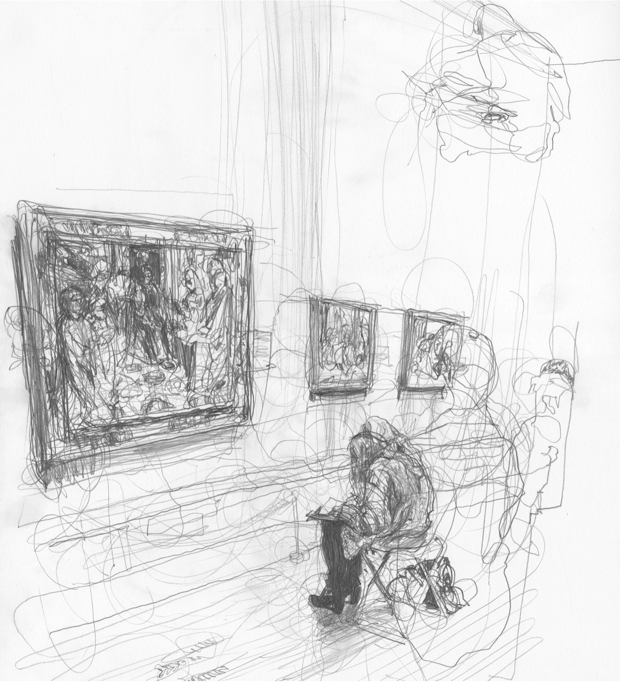 NGA2BW2018278 Scribbly Artist in Large Room [DTA] [131118]