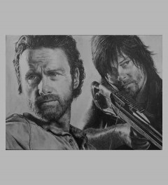 Rick Grimes & Darryl Dixon (the walking dead)
