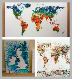 Hand Painted Maps