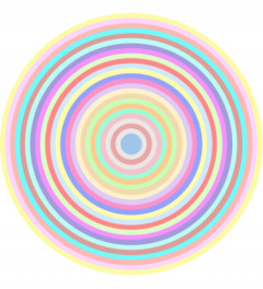 26 pastel colours in circle