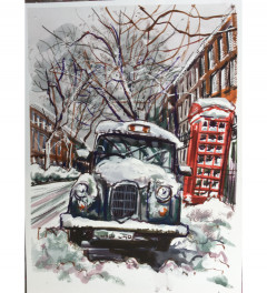 Taxi in snow