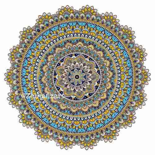 The Happy Mandala Print
