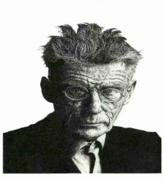 Samuel Beckett original ink drawing