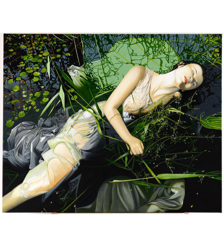 Ophelia oil on canvas prints